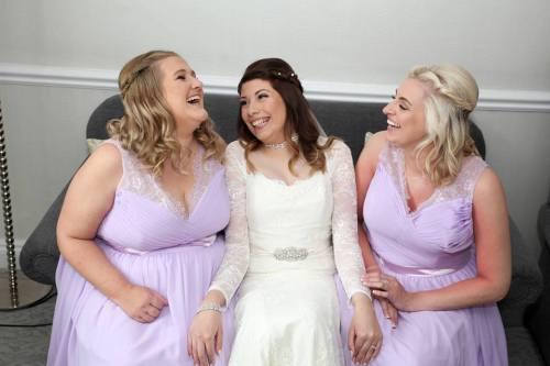 meg wedding on sofa